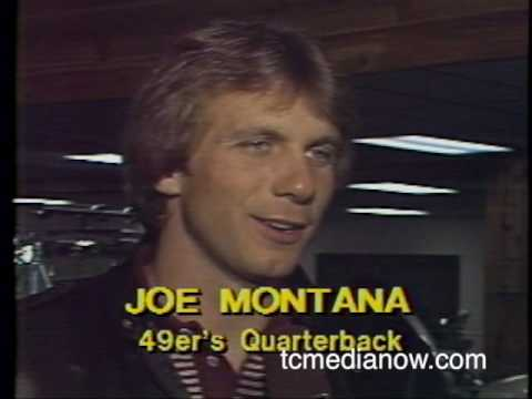 Jeff Passolt interviews Joe Montana in 1982 KARE-TV (WTCN)