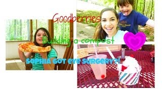 Vlog: Building a compost, Goodberries, and Sophia got eye surgery?! | #delsvlogsgalore Thumbnail