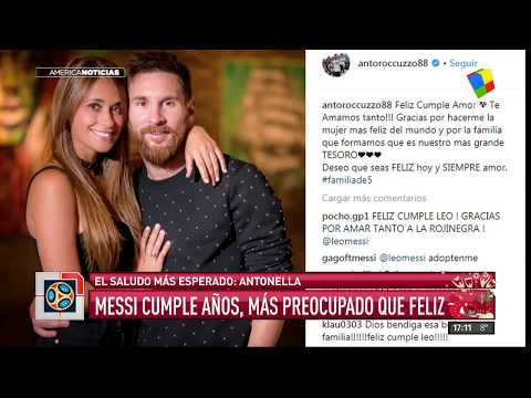 El mensaje de amor de Antonela Roccuzzo a Messi por su cumpleaños