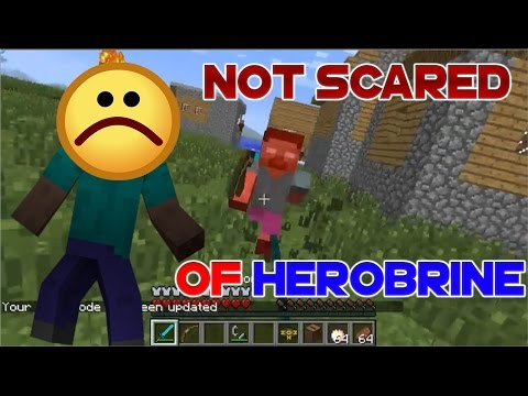 KID MEETS HEROBRINE IN MINECRAFT - NOT SCARED AT ALL