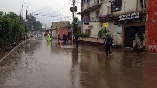 Se registran inundaciones y fuertes vientos por lluvias en el territorio nacional