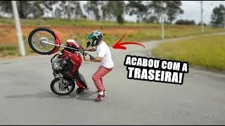 JAGUNÇO VIRO COM A MINHA MOTO NO GRAU