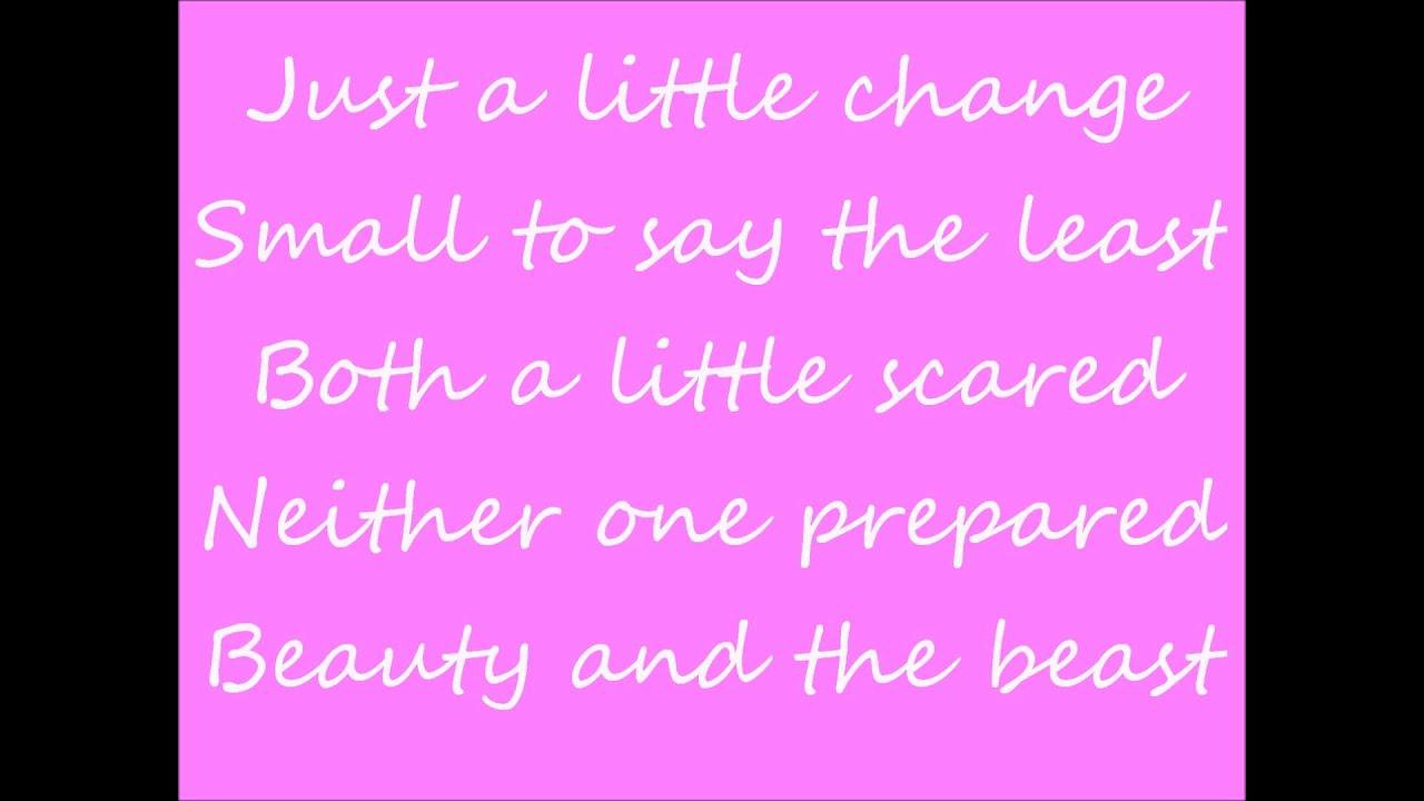 beauty and the beast lyrics - YouTube