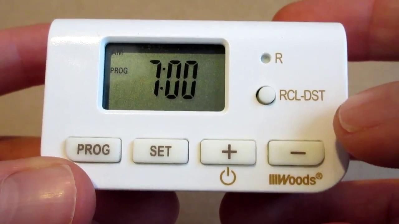 Woods Light Timer Instructions 50007