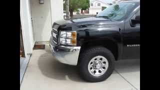 2013 Silverado 285/70/17 tires with leveling kit.