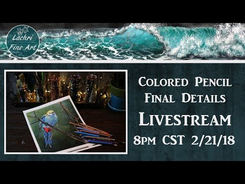 Final Details Colored Pencil tips Livestream - Lachri