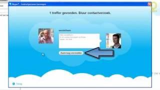Contacten toevoegen aan Skype