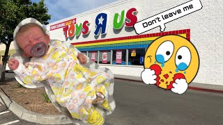 Silicone Baby Doll Gets Changed! Tour Of Closing Toys R Us