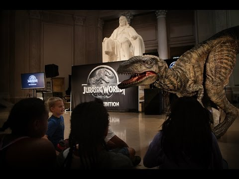 Jurassic World: The Exhibition walkthrough @ The Franklin Institute 2016