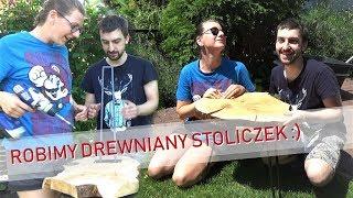 BABA W WARSZTACIE: Robimy stolik nocny z plastra gruszy - prosty weekendowy projekt dla każdego!