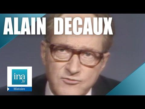"""Alain Decaux """"Complots Pour De Gaulle""""   Archive INA"""