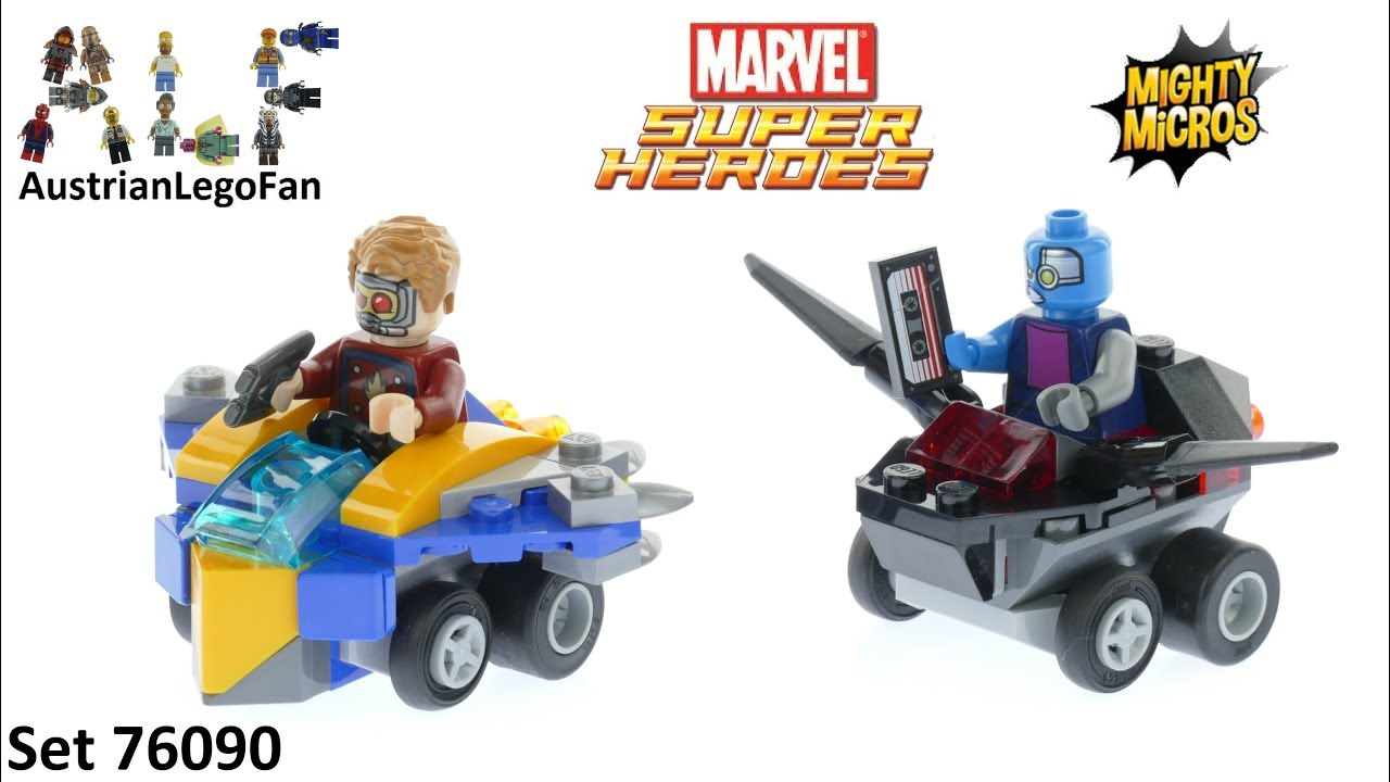 LEGO Marvel Super Heroes Mighty Micros Star-Lord vs 76090 Nebula