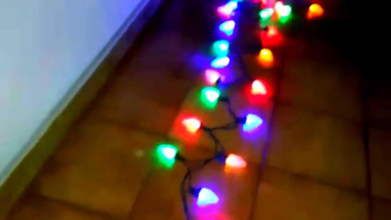 Juego de 100 luces navide as cambio de color led corte de diamante youtube - Focos led con luces de colores ...