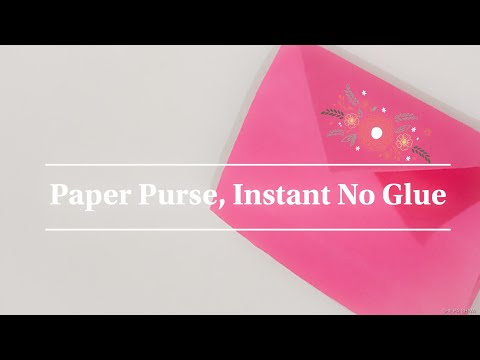 Origami purse - Easy Paper Purse without glue-Diy-For bills, Medicines,etc