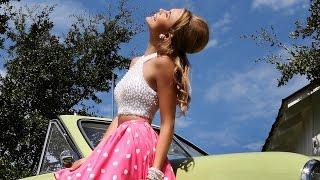 Sherri Hill 32244 Short Dress Pearl Beadwork Crop Top Polka Dot Skirt