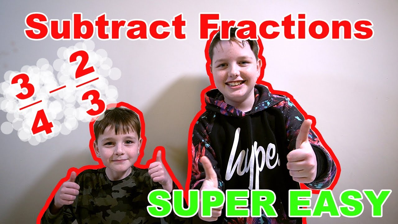 Subtracting Fractions with Different Denominators - Trick Minus Fractions Instantly