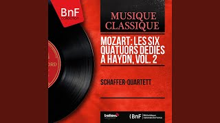 "String Quartet No. 17 in B-Flat Major, Op. 10 No. 3, K. 458 ""The Hunt"": I. Allegro vivace assai"