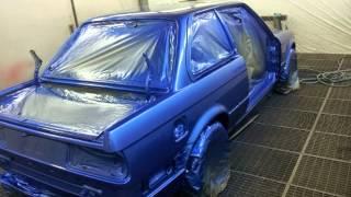 BMW E30 Restoration Estoril Blue