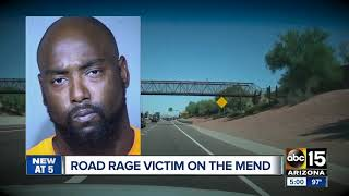 Valley man shot in road rage incident speaking out