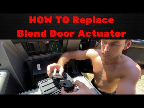How To Replace temperature blend door motor/actuator | Lincoln Mark LT