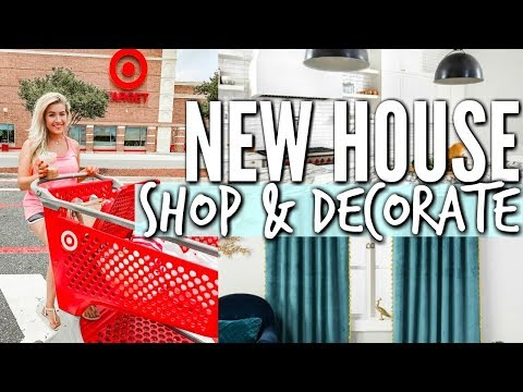 TARGET SHOP AND DECORATE WITH ME FOR THE NEW HOUSE   HOME TRANSFORMATION   Love Meg