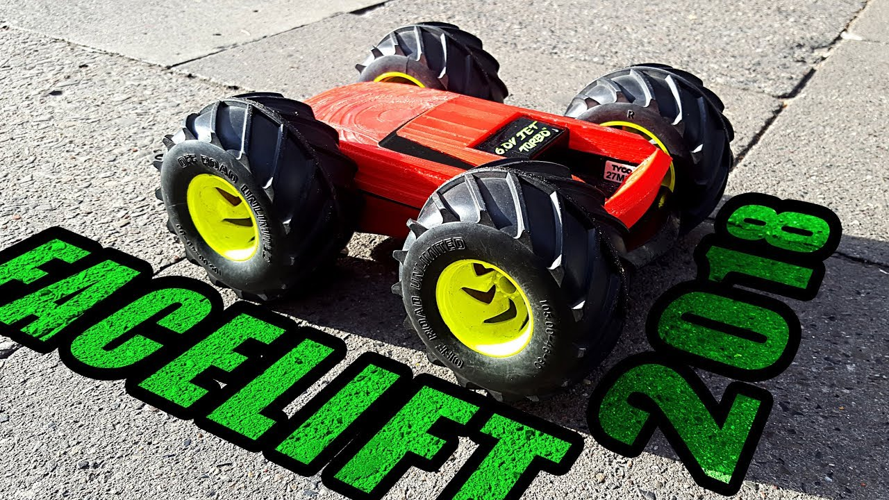1997 Tyco Rc Rebound 4x4 Printing Body Best Electric Remote Control Car Ever Revived