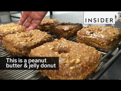 This NYC staple makes a peanut butter and jelly doughnut