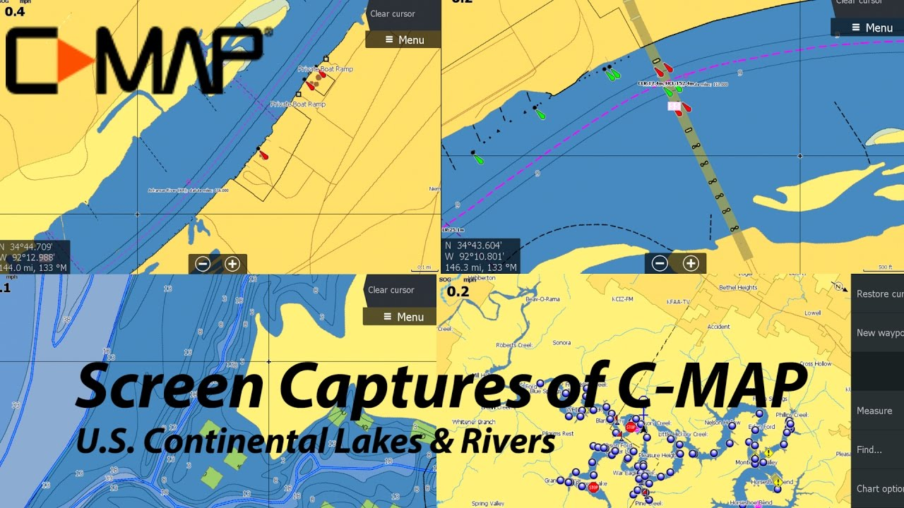 CMAP Continental U S Lakes and Rivers map chart in Lowrance Gen3
