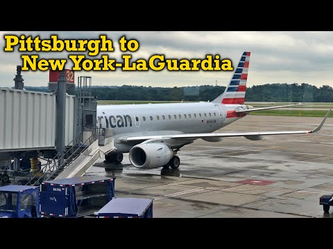 Full Flight: American Airlines E190 Pittsburgh To New York-LaGuardia (PIT-LGA)