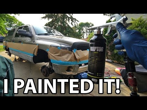 Paining My Truck w Raptor Bed Liner - Asian Redneck Project #16