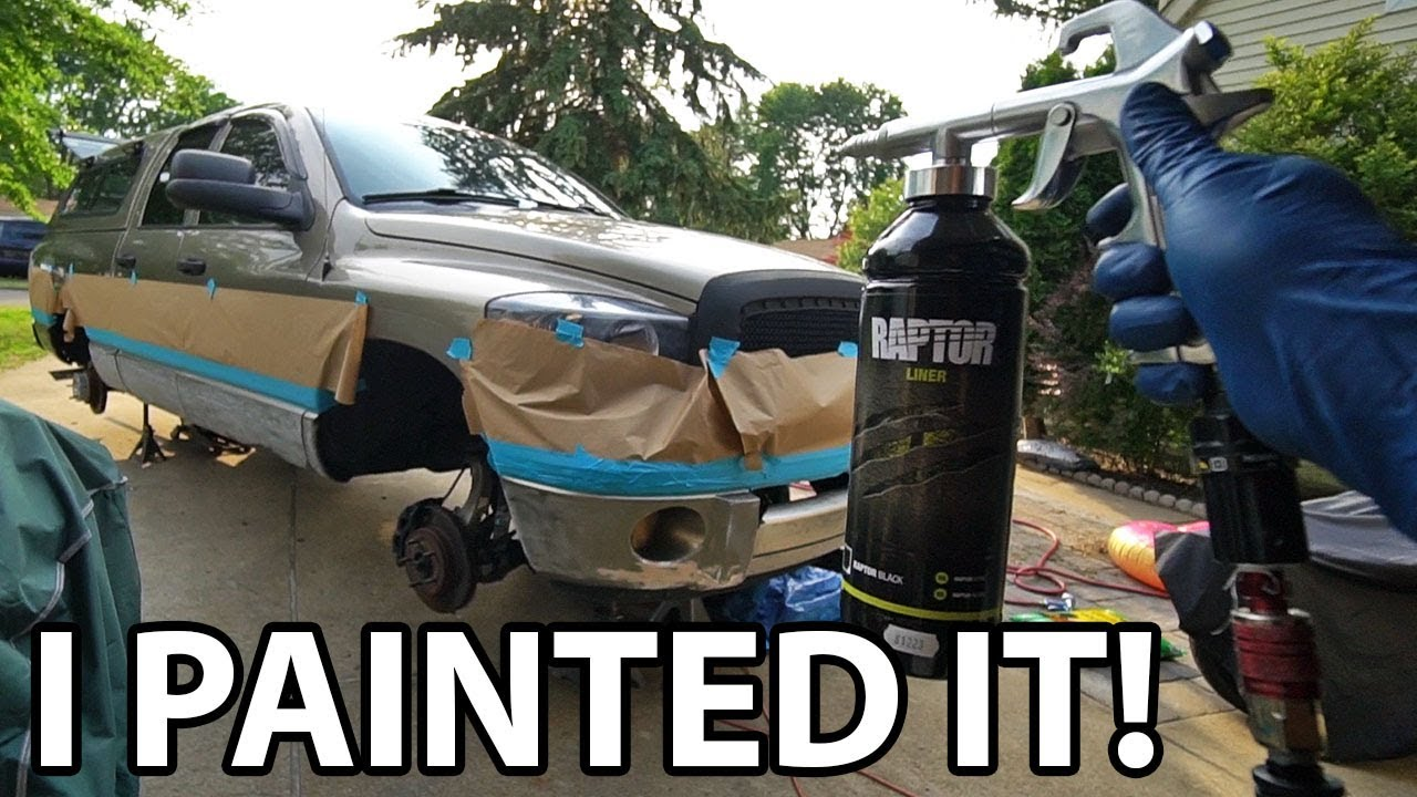 Painting My Truck W Upol Raptor Liner Bed Liner Asian Redneck Project 16