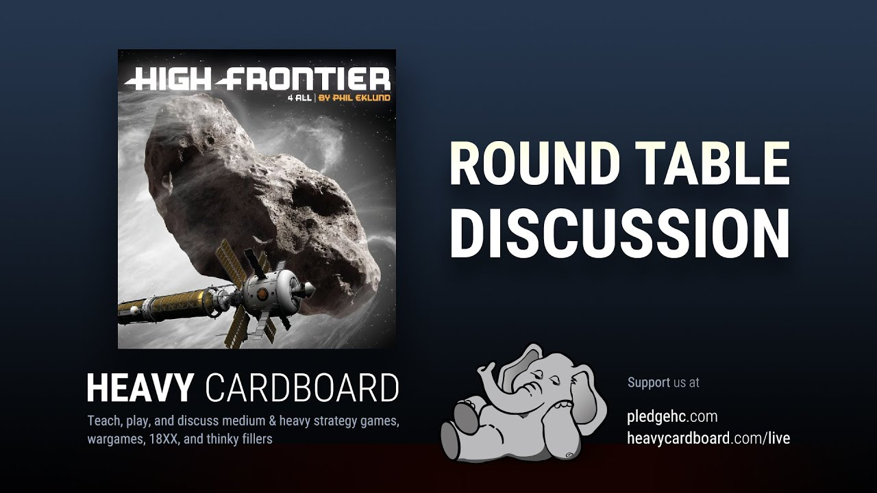 Round Table only - High Frontier Round Table discussion by Heavy Cardboard