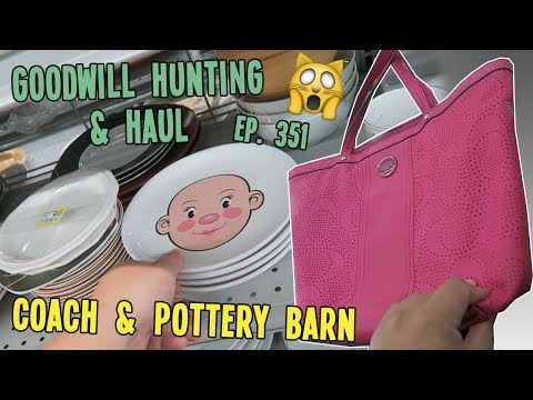COACH & POTTERY BARN | GOODWILL HUNTING & HAUL EP. 351
