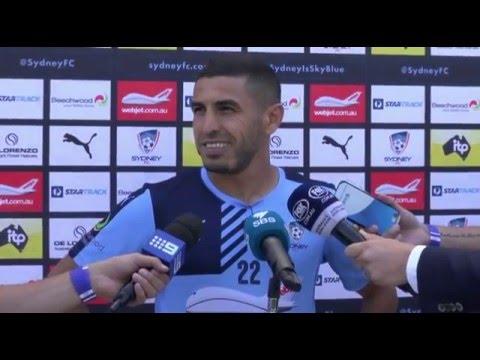 Ali Abbas Pre Jets   Player Interviews   Sydney FC