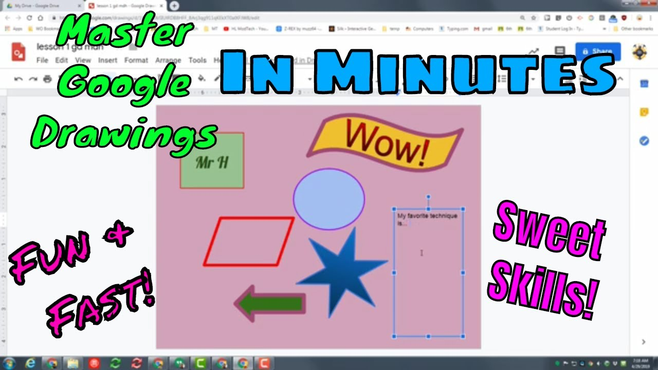 a guide to google drawings for teachers