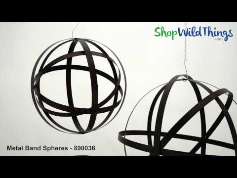 Metal Band Folding Floral Spheres for Weddings, Events & Gardens - ShopWildThings