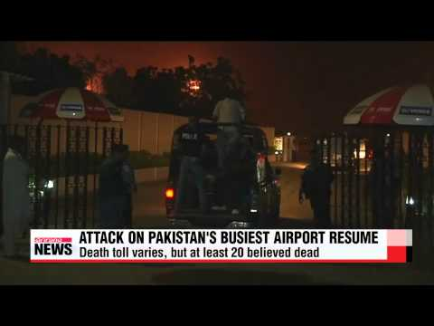 Pakistan airport attack leaves more than 20 dead