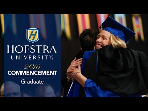 2016 Graduate Commencement - Hofstra University