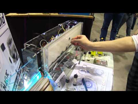 Calgary Comic Expo 2012 electromagnetic ferrofluid display