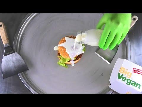 McDonalds BIG Vegan TS Ice Cream Rolls   how to make fried Ice Cream with McDonald's Burger   Food