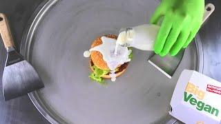 McDonalds BIG Vegan TS Ice Cream Rolls | how to make fried Ice Cream with McDonald's Burger | Food