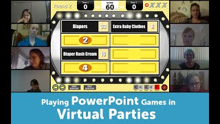 Virtual Party & Baby Shower Games   How To Play Powerpoint Games In Zoom, Skype, Google Hangouts