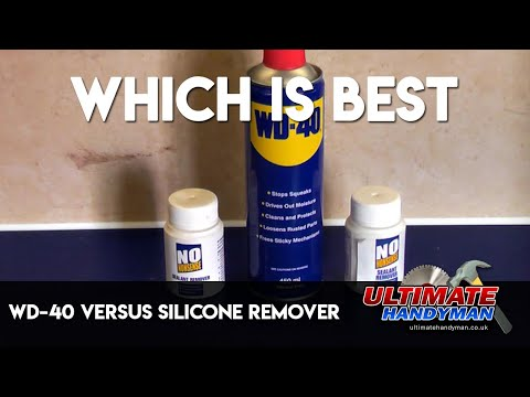 WD-40 versus silicone remover