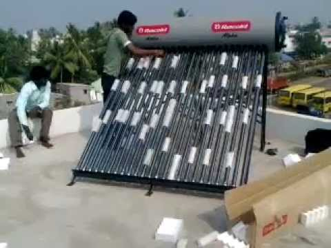 Racold etc solar water heater installation part iv youtube sciox Gallery