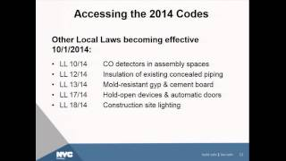 1 | Introduction to 2014 Construction Codes Revisions Process | Helen Gitelson