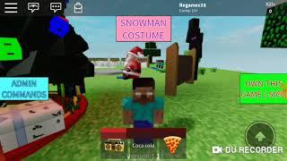 O Herobrine matou o Steve no Roblox (Roblox Minecraft)