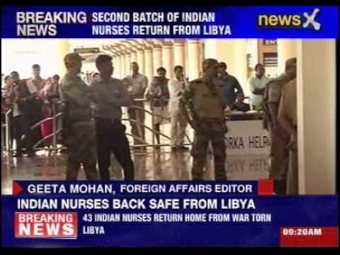 43 Indian nurses return from war-torn Libya
