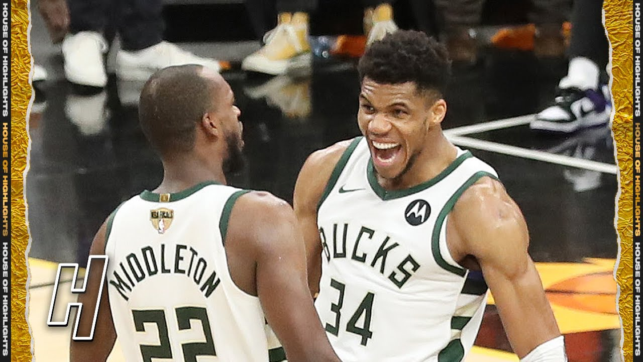 Download Giannis Antetokounmpo EPIC ALLEY-OOP DUNK to Seal Game 5 - Bucks vs Suns   2021 NBA Finals