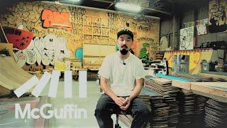 スケートデッキの廃材を使った彫刻作品で注目を集めるアーティスト HAROSHI