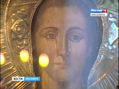 В казачинской церкви мироточит икона